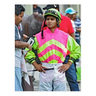 """Young Jockey Sensation """"Luis Saez"""" at Saratoga Postcard"""