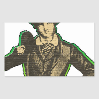 Young Lad Rectangular Sticker