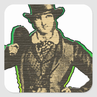 Young Lad Square Sticker