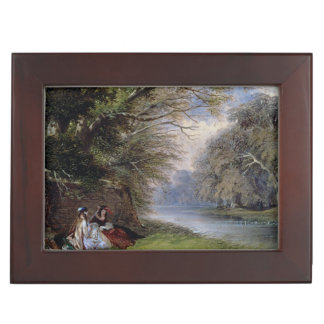 Young ladies by a river keepsake box