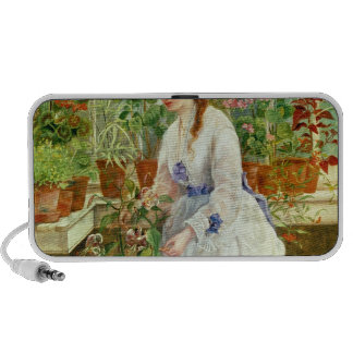 Young Lady in a Conservatory Laptop Speaker