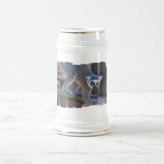 Young Lemur Beer Stein Mugs