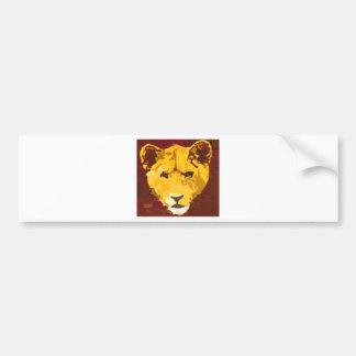Young Lion Face Bumper Sticker