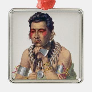 Young Ma-Has-Ka, Chief of the Iowas Christmas Ornament