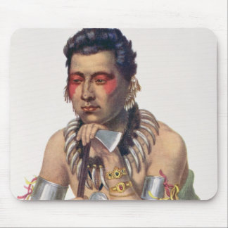 Young Ma-Has-Ka, Chief of the Iowas Mouse Mat