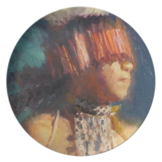 Young Maidu Dancer Melamine Plate