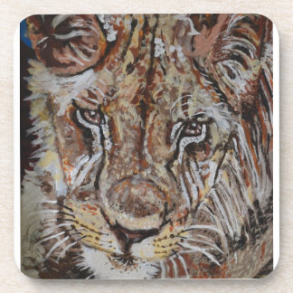 Young Male Lion Drink Coaster