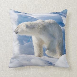 Young Male Polar Bear Cushion
