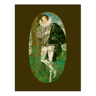 Young Man Among Roses by Hilliard Postcard
