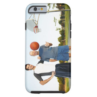 Young man and senior man on outdoor basketball tough iPhone 6 case