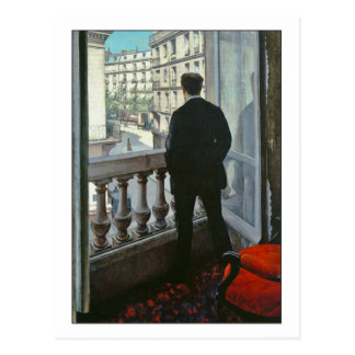Young Man at Window by Gustave Caillebotte Postcard