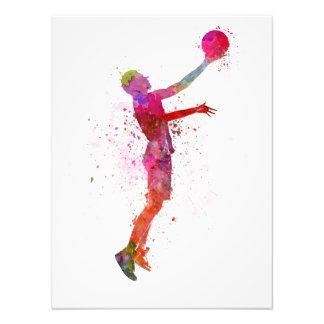 Young man basketball to player art photo