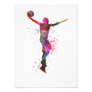 Young man basketball to player dunking photo print