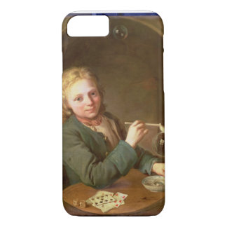 Young Man Blowing Bubbles from a Clay Pipe, 1766 iPhone 7 Case
