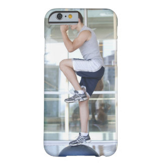 young man doing step-up exercises on a balance barely there iPhone 6 case