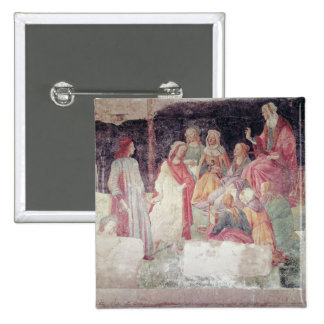 Young Man Greeted by Seven Liberal Arts 15 Cm Square Badge
