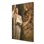 Young Man Holding a Cross Canvas Print