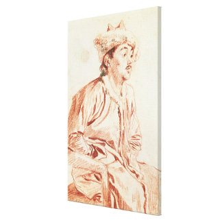 Young Man in Oriental Costume (drawing) Canvas Print