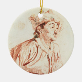 Young Man in Oriental Costume (drawing) Christmas Ornament