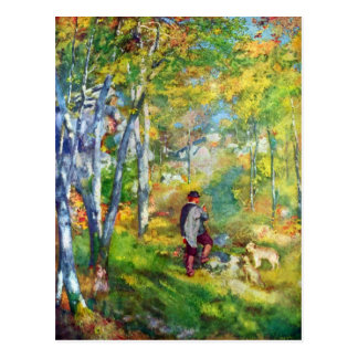 Young man in the forest of Fontainebleau by Renoir Postcard