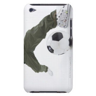 Young man playing soccer 2 iPod touch cases