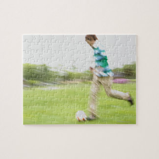 Young Man Playing Soccer Jigsaw Puzzle
