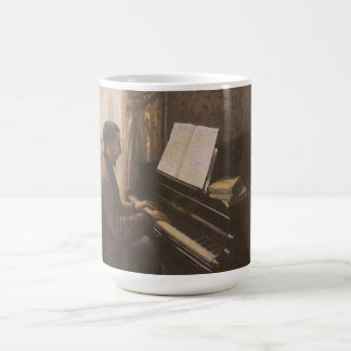 Young Man Playing the Piano by Gustave Caillebotte Coffee Mug