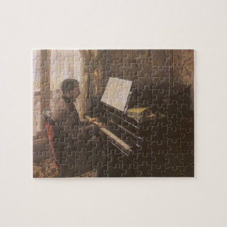 Young Man Playing the Piano by Gustave Caillebotte Jigsaw Puzzle