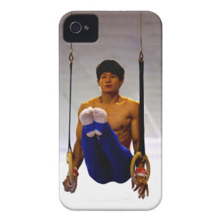 Young man practicing gymnastic rings iPhone 4 cover