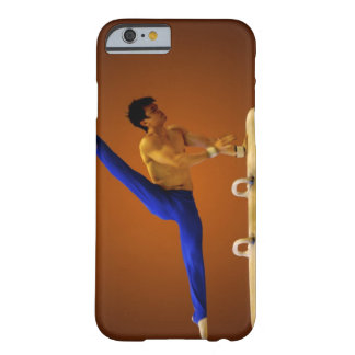 Young man practicing gymnastics on the pommel barely there iPhone 6 case