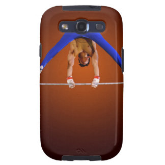 Young man practicing on the horizontal bar galaxy s3 cases