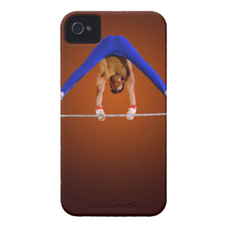 Young man practicing on the horizontal bar iPhone 4 covers