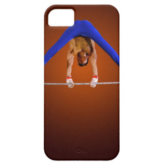Young man practicing on the horizontal bar iPhone 5 cases