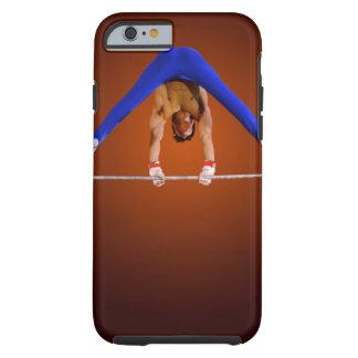 Young man practicing on the horizontal bar tough iPhone 6 case