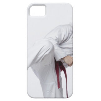 Young man practicing side kick barely there iPhone 5 case