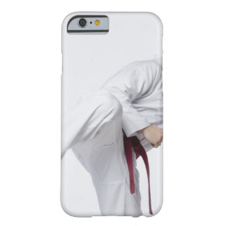 Young man practicing side kick barely there iPhone 6 case