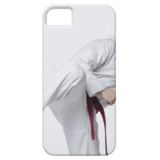 Young man practicing side kick iPhone 5 cover