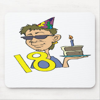 Young Man s 18th Birthday Gifts Mouse Pads