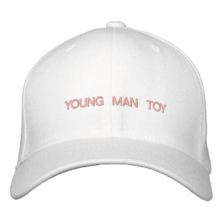 """YOUNG MAN TOY"" - embroidered on cap Embroidered Cap"