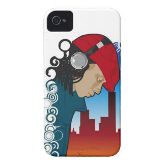 Young Man Wearing Headphones Blackberry Case Mate