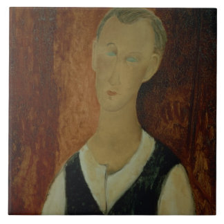 Young Man with a Black Waistcoat, 1912 (oil on can Tile