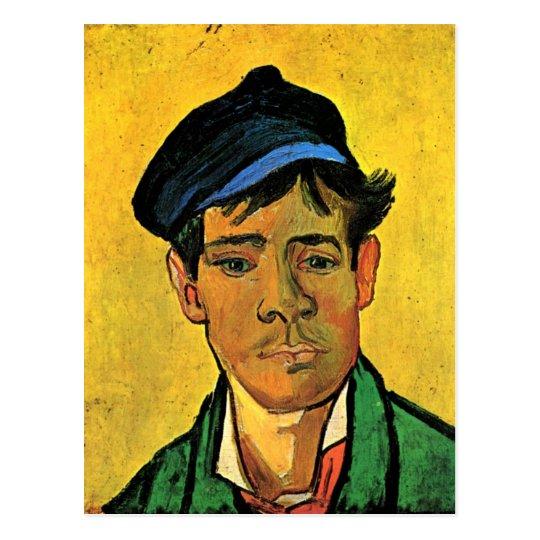 Young Man with a Cap Van Gogh Fine Art Postcard