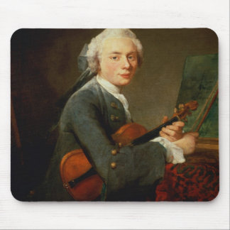 Young Man with a Violin Mouse Mat