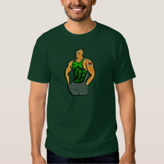 Young Man with Heart and Anchor Tattoo Shirts
