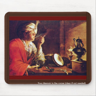 Young Man With Pipe By Gobin Michel Mouse Pad