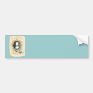 Young Marie Antoinette Butterfly Art Print Car Bumper Sticker
