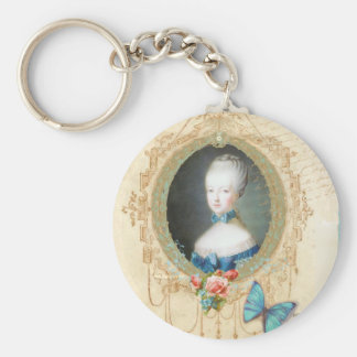 Young Marie Antoinette Ornate Keychain
