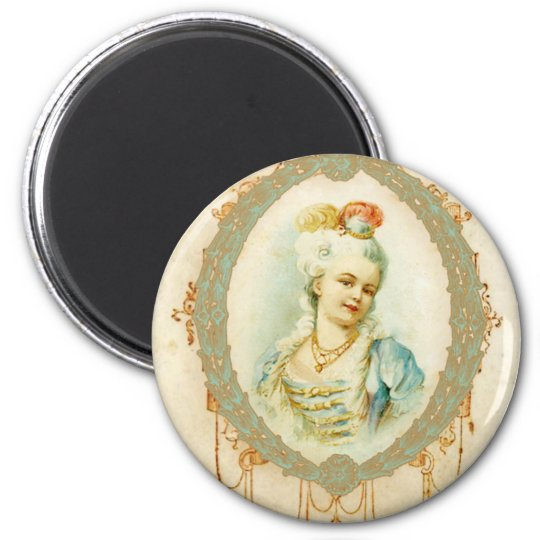 Young Marie Antoinette Portrait 6 Cm Round Magnet