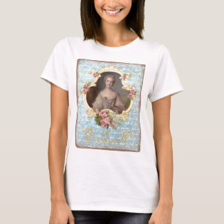 Young Marie Antoinette with Pink Roses T-Shirt