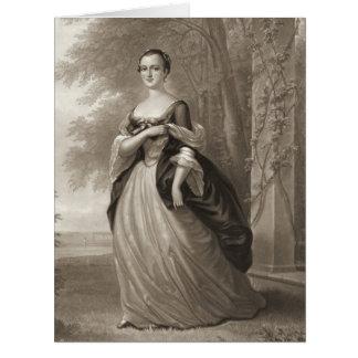 Young Martha Washington 1863 Greeting Cards